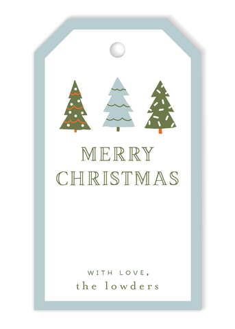 Tree Trio Christmas Gift Tags