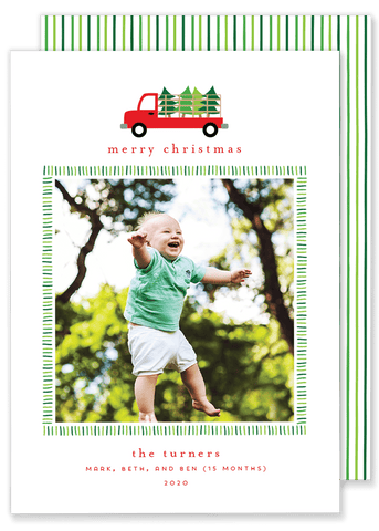 Tree Truck Christmas Card
