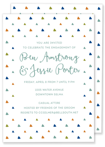 triangle birthday party invitation
