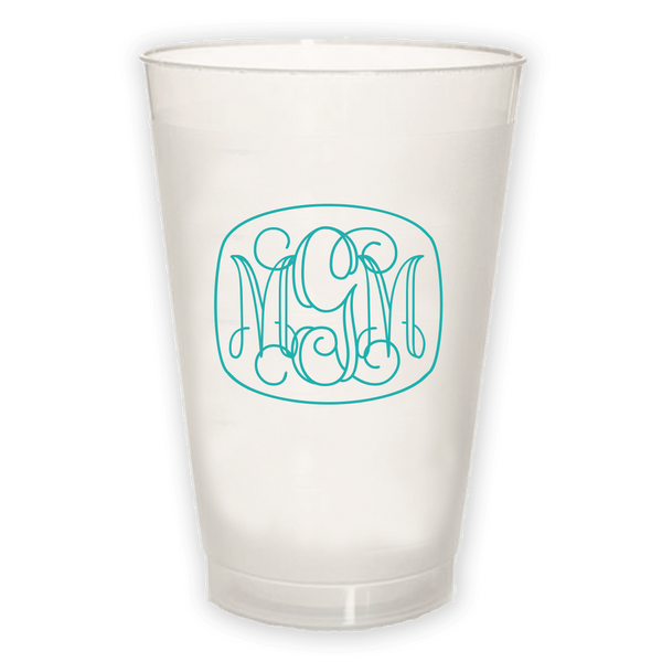 Vine Monogram Frosted Cup
