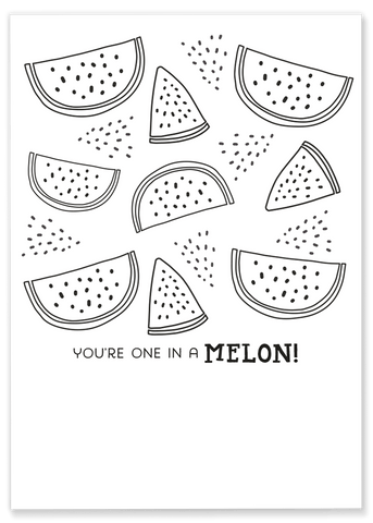 Watermelon Coloring Sheet