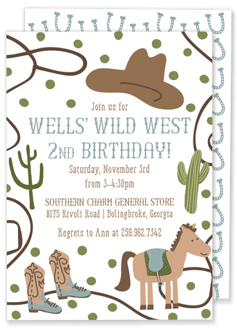 Wells Wild West Birthday Party