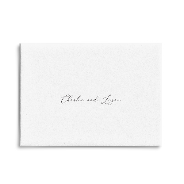 White Script // Envelope Addressing