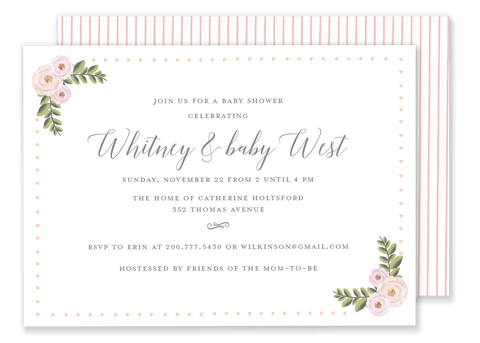 Whitney Watercolor Shower Invitation