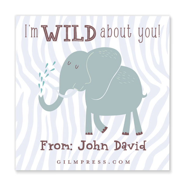 Wild About You valentine