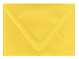 Lemon Drop Yellow Envelopes
