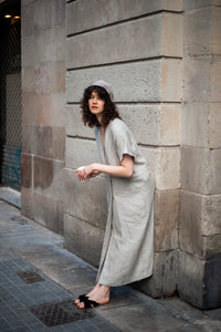 PATIS PROJECT LONG LINEN VEST DRESS