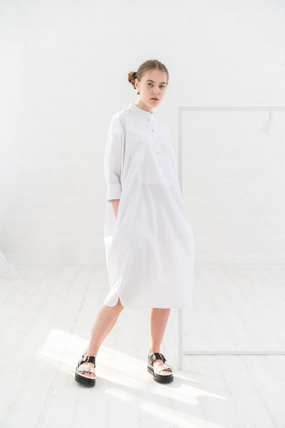 White Tunic Dress, Midi Dress, Shirt Dress, Oversized Dress, Casual Dress,  Shirt Dress \