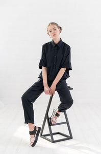 Oversized shirt and trousers suit , jumpsuit