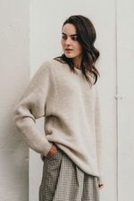 Knitted wool oversized jumper for women and men