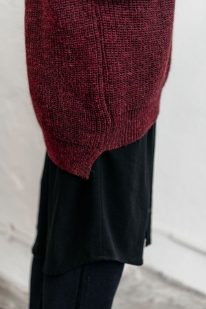 Knitted wool oversized jumper