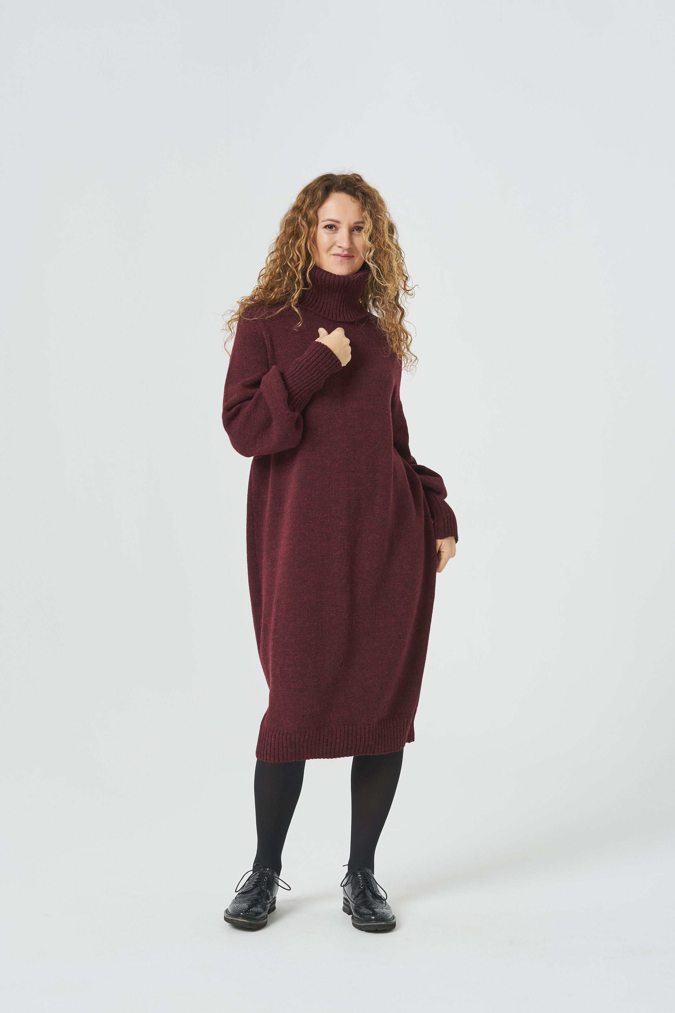 oversized wool knitted jumper dress