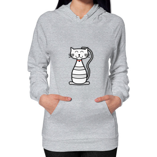 Hoodie (on woman) Heather grey frivolista