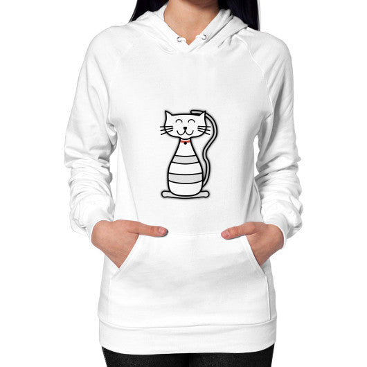 Hoodie (on woman) White frivolista