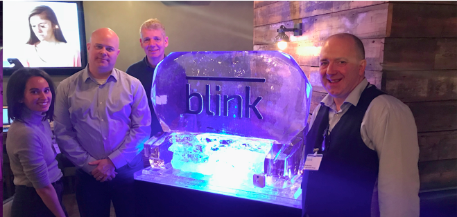 Blink Team and Ice Sculpture