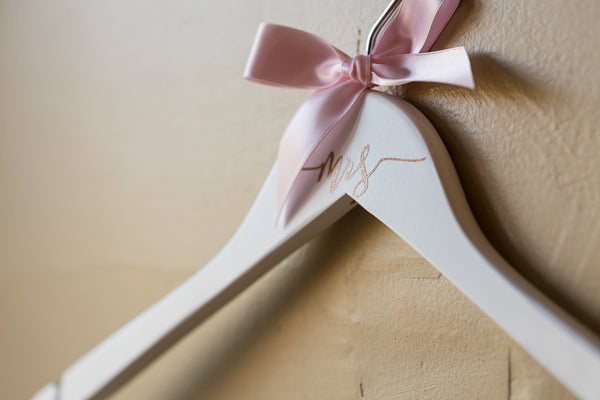 mrs decal hanger from Bride and Bow