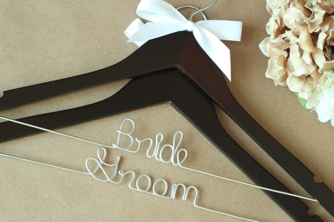 Bride and Groom Hangers 2 Pack