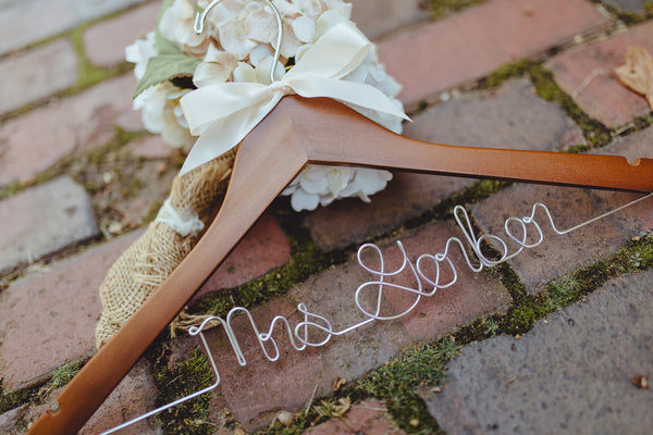 Set of Personalized Bridal Hangers