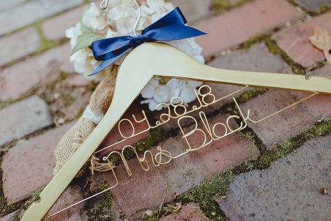 Glitter Gold or Silver Bridal Hanger