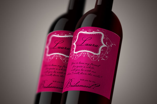 Wine Labels - Custom Bridesmaid Gift