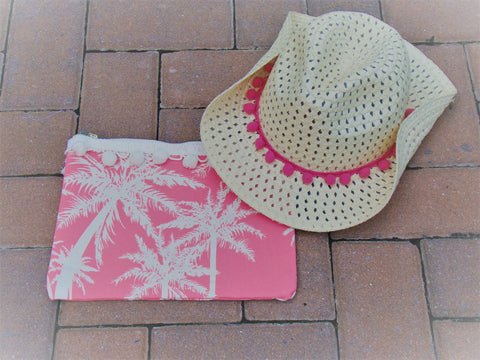 Pink Palm Tree Carry-All Bag