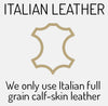 we only use Italian Full Grain leather