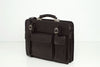 Munich Black - Double Compartment Leather Briefcase