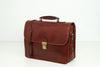 Berlin Brown - Leather Laptop Briefcase