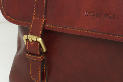 Helsinki  Brown - Leather Laptop Briefcase