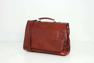 Copenhagen Brown - Leather Laptop Messenger