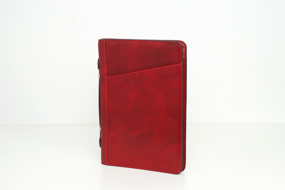 Noto Red-  Leather Compendium