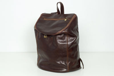 Stockholm Chocolate - Leather Backpack