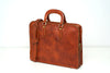 Tito Brown - Slim Leather Briefcase