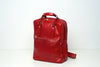 Naples Red - Leather Backpack / Tote