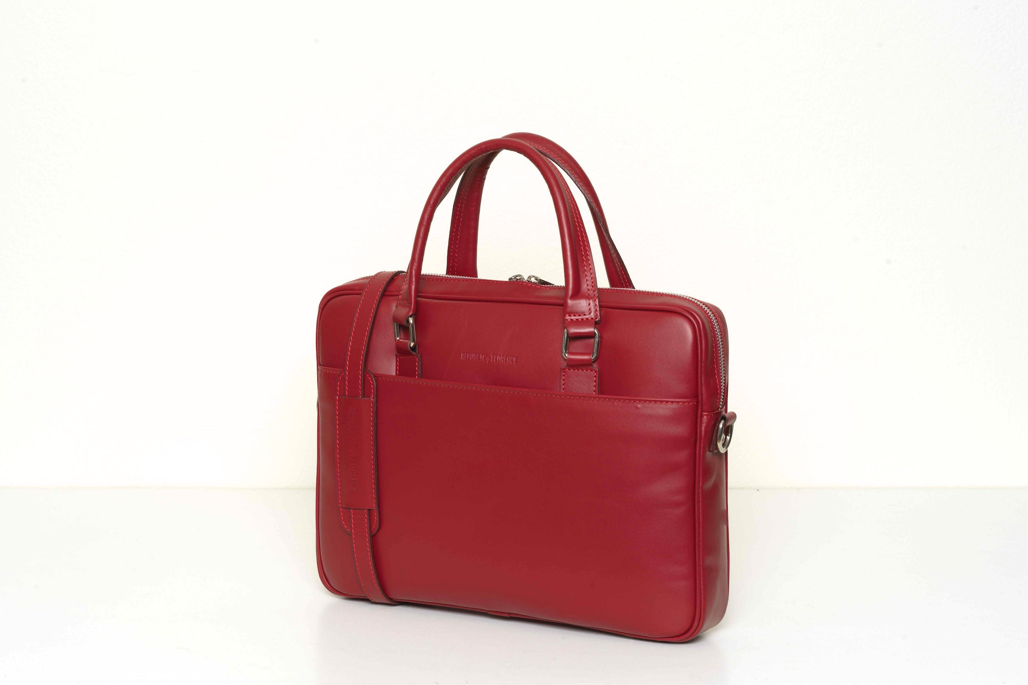 Glasgow Red - Slim Leather Briefcase