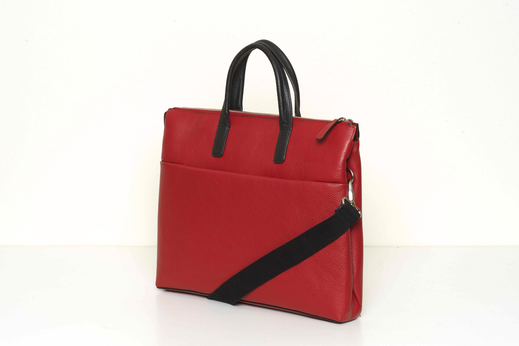 Boston Red - Leather Briefcase 13' laptop