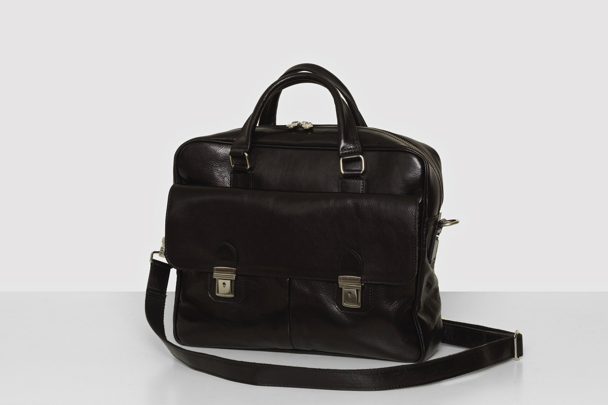 Toronto Black Leather Briefcase