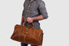 Amerigo Tan - Leather Duffle Bag