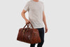 Amerigo Brown Leather Duffle Bag