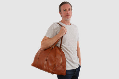 Casati Tan Duffle Bag with laptop section