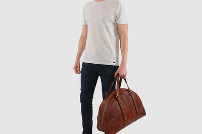 Casati Brown Duffle Bag with laptop section