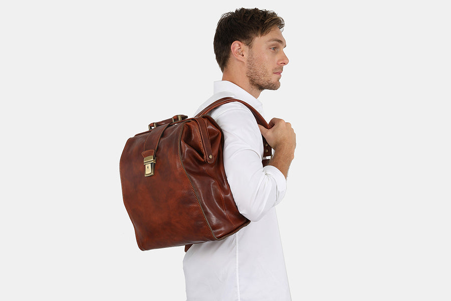 Hepius Brown Backpack / Doctor Bag