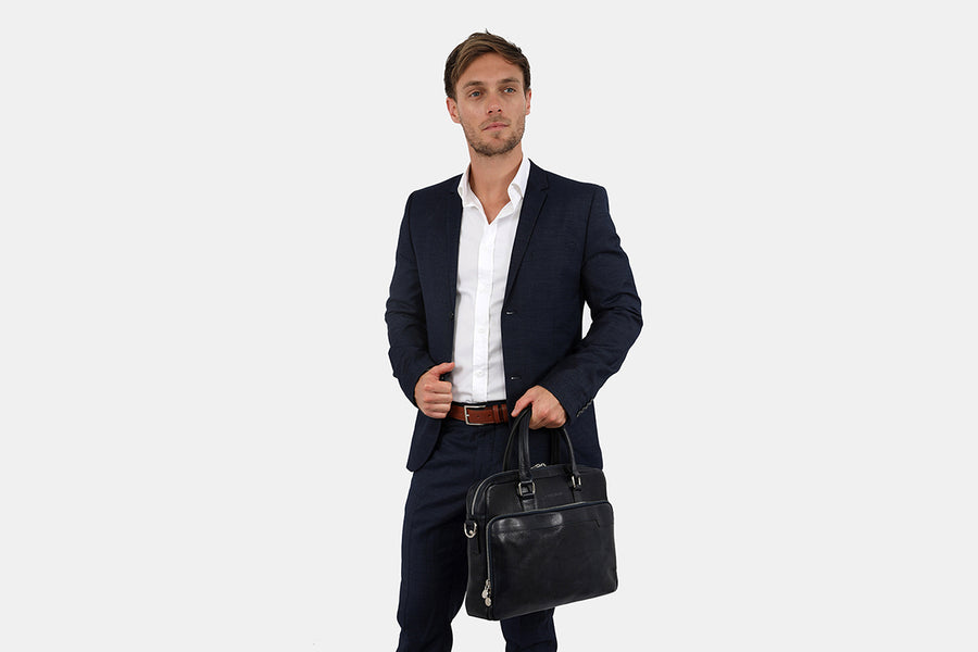 London Blue - Slim Laptop Briefcase