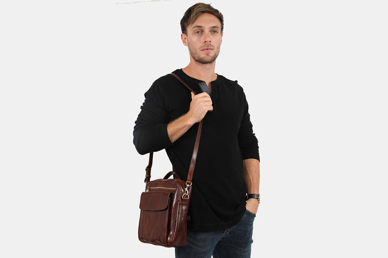 Romolo Brown - Satchel bag.