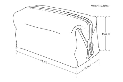 The Uno dopp kit Brown - toiletry bag