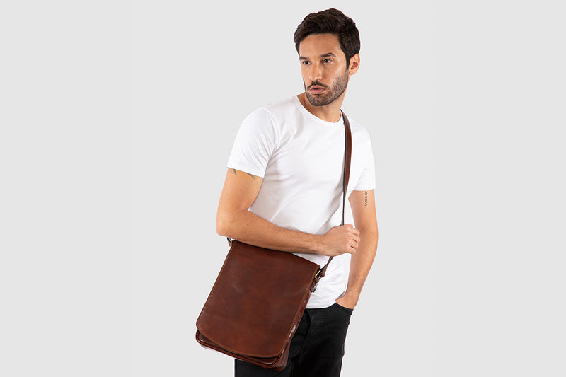 Dublin XL Brown - Leather Laptop Satchel