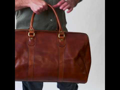 Beltrami Tan - Leather Duffle Bag