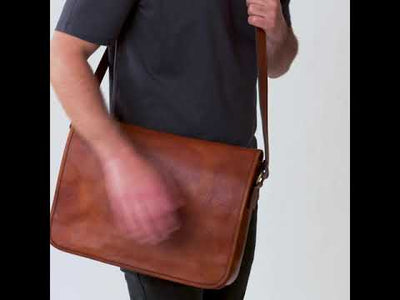 Julius Matt Tan - Leather Messenger