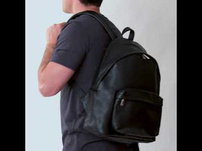 Bromley Black - Leather Backpack
