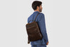 "Kingston Chocolate - Leather 13"" Laptop Backpack"
